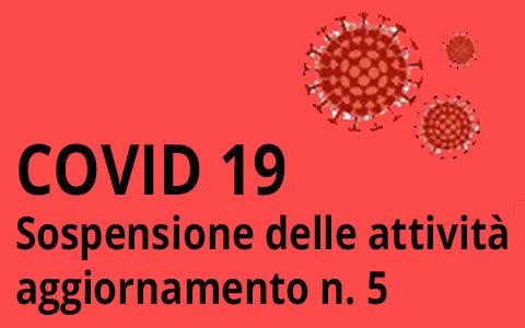 Aggiornamento n.4 sulle disposizioni per l'emergenza epidemiologica da COVID-19