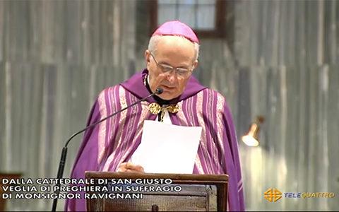 La registrazione della Veglia per il vescovo Eugenio