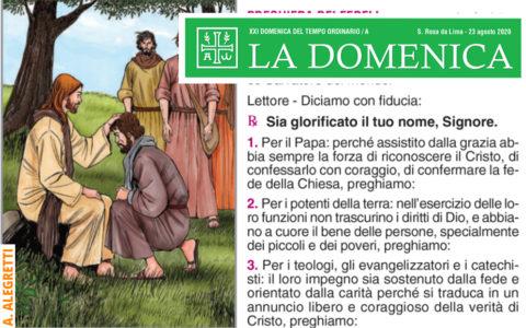 Foglietto La Domenica – XXI Domenica fra l'Anno