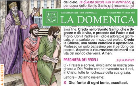 Foglietto La Domenica – XXVIII Domenica fra l'Anno