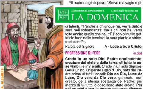 """Foglietto """"La Domenica"""" – XXXII Domenica fra l'Anno"""