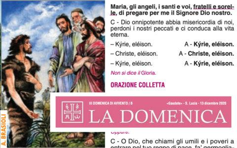 """Foglietto """"La Domenica"""" – III di Avvento"""